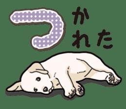 Banana's puppy Labrador retriever sticker #14166437