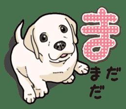 Banana's puppy Labrador retriever sticker #14166438