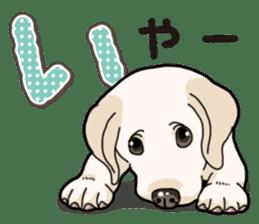 Banana's puppy Labrador retriever sticker #14166446