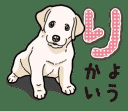 Banana's puppy Labrador retriever sticker #14166453