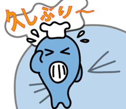"""""""kuuchan"""" of the whale #2 sticker #14166867"""