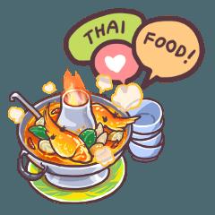 สติ๊กเกอร์ไลน์ ฉันรักอาหารไทย