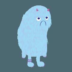 สติ๊กเกอร์ไลน์ ridiculous blue