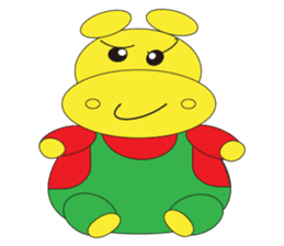 Angry Hippo sticker #14191727