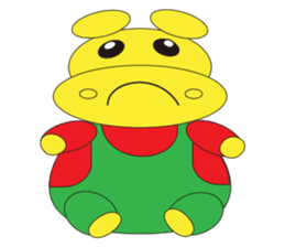 Angry Hippo sticker #14191728