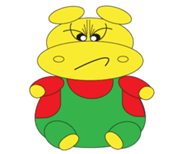 Angry Hippo sticker #14191729