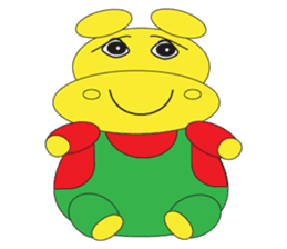 Angry Hippo sticker #14191733