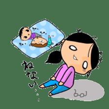 Active child'mother sticker #14199768