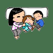 Active child'mother sticker #14199769
