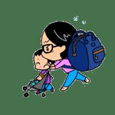 Active child'mother sticker #14199805