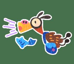 Mr. Ostrich sticker #14200292