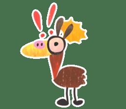 Mr. Ostrich sticker #14200299