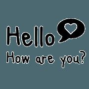 สติ๊กเกอร์ไลน์ Daily Chat in Big Letter Style