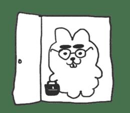 Hodor the bunny sticker #14204291
