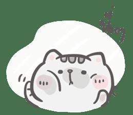 Mr. bear and his cutie cat 3 sticker #14206722