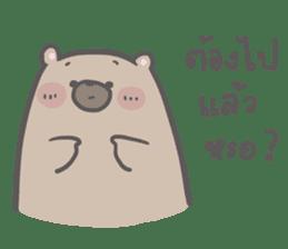 Mr. bear and his cutie cat 3 sticker #14206726