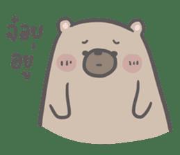 Mr. bear and his cutie cat 3 sticker #14206727