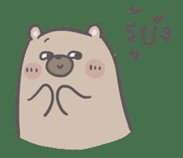Mr. bear and his cutie cat 3 sticker #14206745