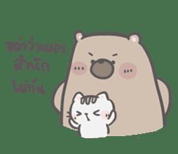 Mr. bear and his cutie cat 3 sticker #14206754