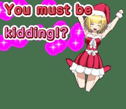 Lovely Santa Girl ~ Holy Night ~English sticker #14215774
