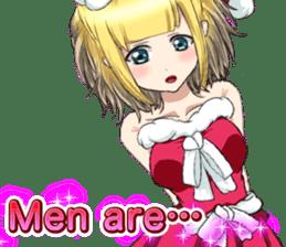 Lovely Santa Girl ~ Holy Night ~English sticker #14215782