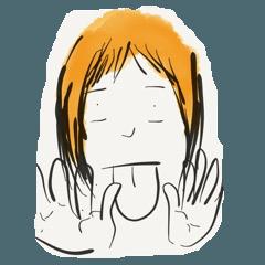 A Little Girl Short Hair Mood