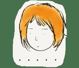 A Little Girl Short Hair Mood sticker #14224408