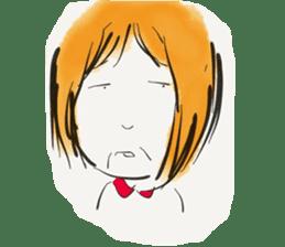 A Little Girl Short Hair Mood sticker #14224409