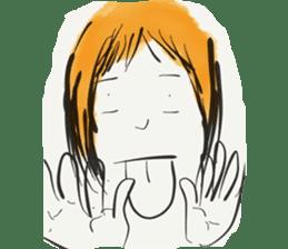 A Little Girl Short Hair Mood sticker #14224418