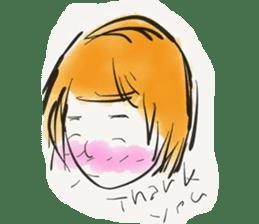 A Little Girl Short Hair Mood sticker #14224421