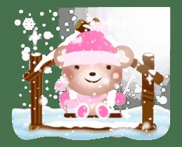Snow Country Lovely Heart Bear! sticker #14233118