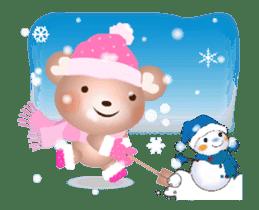 Snow Country Lovely Heart Bear! sticker #14233120