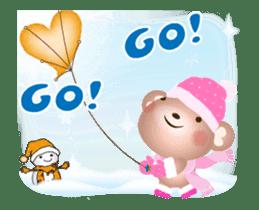 Snow Country Lovely Heart Bear! sticker #14233121