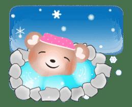 Snow Country Lovely Heart Bear! sticker #14233123