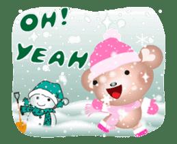 Snow Country Lovely Heart Bear! sticker #14233124