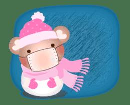 Snow Country Lovely Heart Bear! sticker #14233125