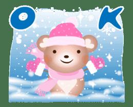 Snow Country Lovely Heart Bear! sticker #14233127
