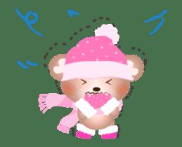 Snow Country Lovely Heart Bear! sticker #14233129