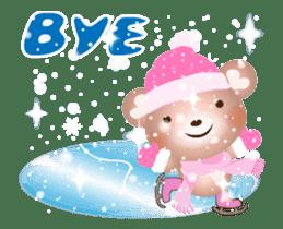 Snow Country Lovely Heart Bear! sticker #14233135