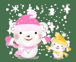 Snow Country Lovely Heart Bear! sticker #14233139