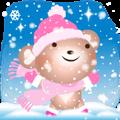 Snow Country Lovely Heart Bear!