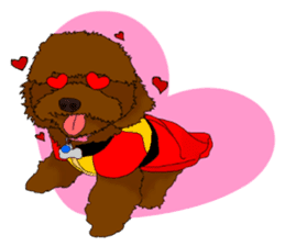 Brownie - The Princess Dog sticker #14234309