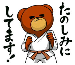 A little Karate fighter,Bear's Akkun 2 sticker #14238981
