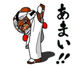 A little Karate fighter,Bear's Akkun 2 sticker #14238989