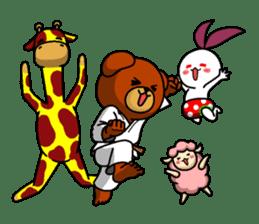 A little Karate fighter,Bear's Akkun 2 sticker #14238996
