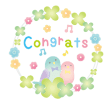 Animation sticker [Congratulations] sticker #14249697