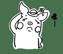 Pig couple 2 sticker #14258829