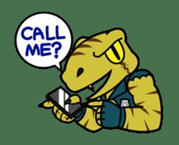 Raptor Cop Animated Stickers sticker #14277993