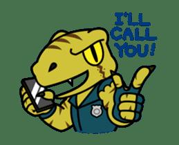 Raptor Cop Animated Stickers sticker #14278004