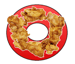 The fried chicken sticker #14280667